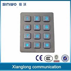 custom 3x4 keypad backlit digital backlit keypad metal button keypad