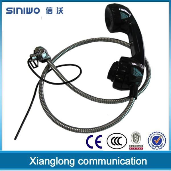 Public payphone integrated industrial usb rj11 interface retro telephone handset 5