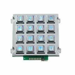16 Keys Electroplated Black Small-Sized Industrial backlit Keyboard B660