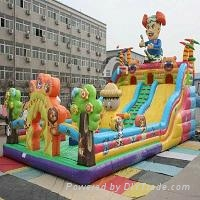 15 * 8 inflatable type bears to the slides