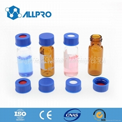 9-425 clear  Screw Top Vial with Writing Patch