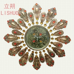 Lishuo european-style bracket clock retro nostalgia creative personality artisti