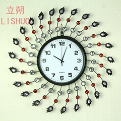 Lishuo European rural decorated living room big clock contracted creative mute c