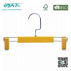 Wholesale Plastic Pants Hanger with Skid-proof Clips