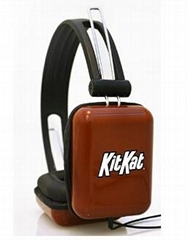 Original manufacturer products of kitkat promotional rectanle shape headphone