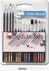 銅鍍鎳畫筆artist paint brush set