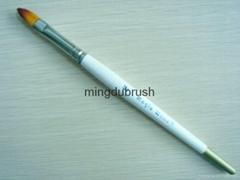 銅鍍鎳箍化纖絲畫筆artist brush