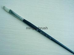 漂白猪鬃画笔artist paint brush
