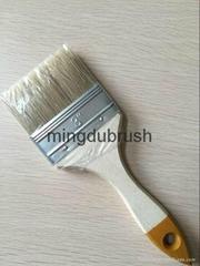鬃絲摻配平頭筆刷bristle painting brush