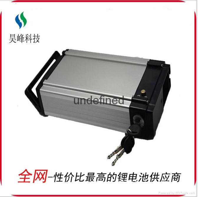 厂家直销电动车锂电池后衣架款48v8800mAh批发 1
