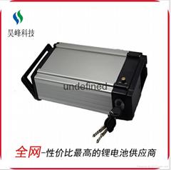 厂家直销电动车锂电池后衣架款48v8800mAh批发