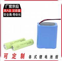 厂家供应18650 2S3P探照灯移动照明电池组