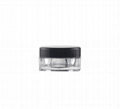 3g 5g Plastic transparent square PS jar cosmetic face cream jar