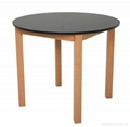 hot selling wooden dining table and chair 2