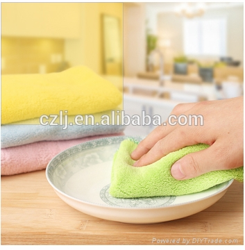 Super Absorbent kitchen cleaning cloth microfiber towel 30x30cm 5
