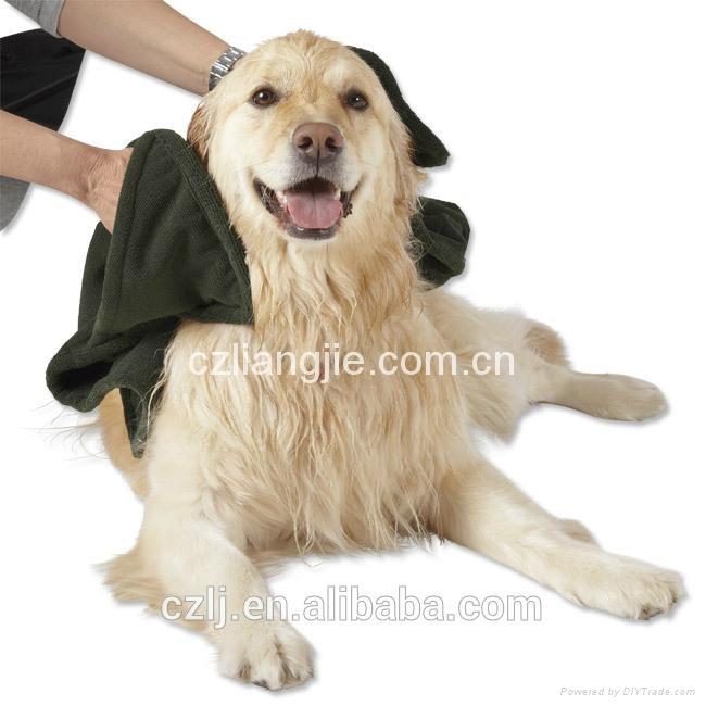 microfiber pet bath towel 1