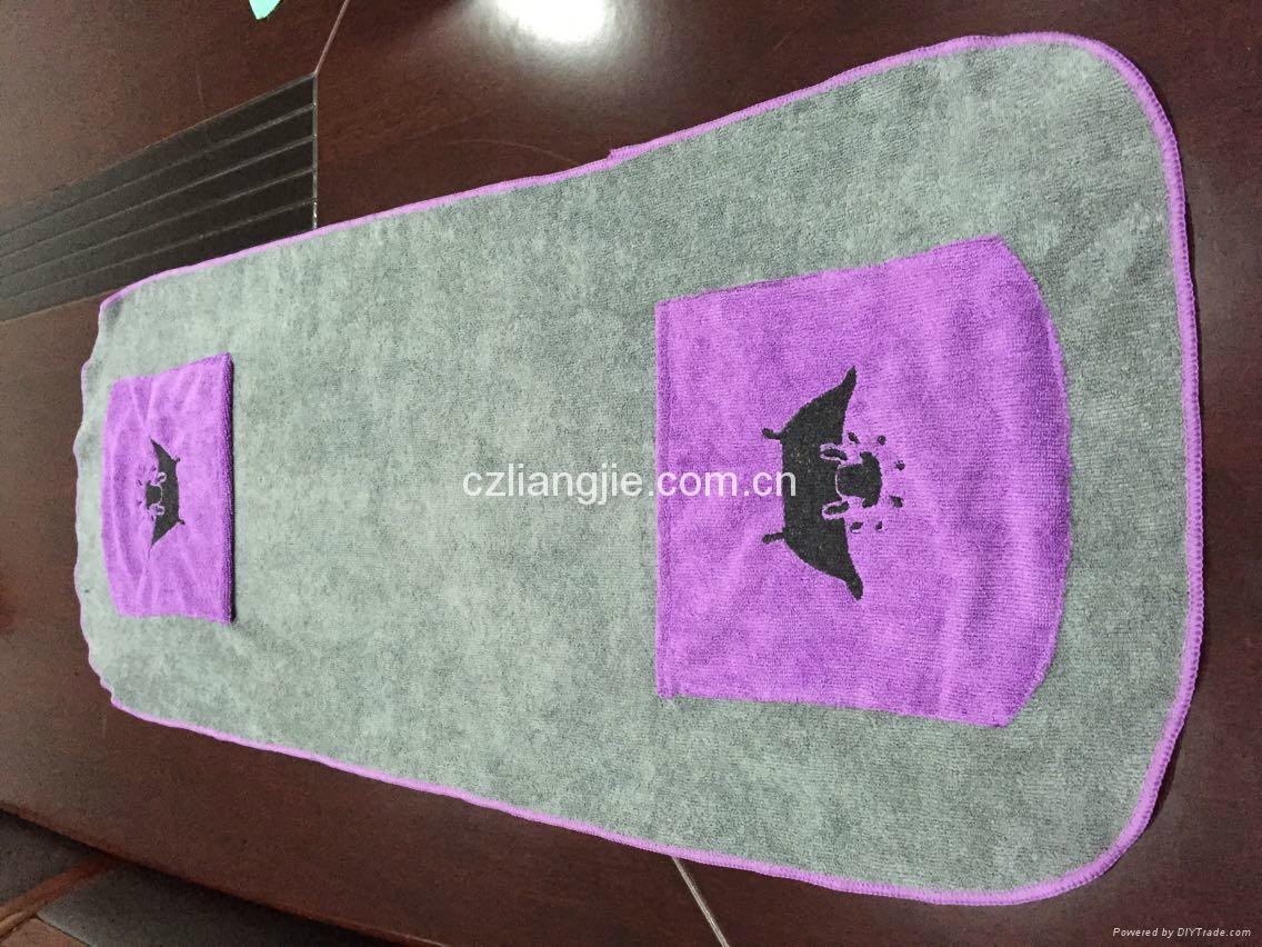 microfiber pet bath towel 4