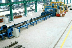 Horizontal H-beam production line