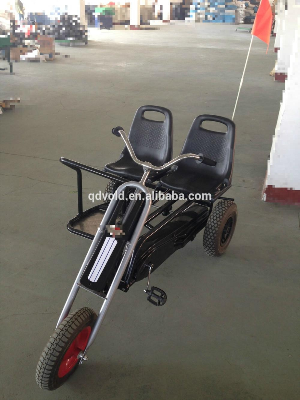 Two seat three wheel adult go kart for kids 1