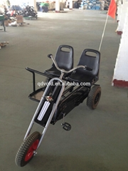 Two seat three wheel adult go kart for kids