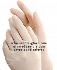 Disposable latex glove powder free
