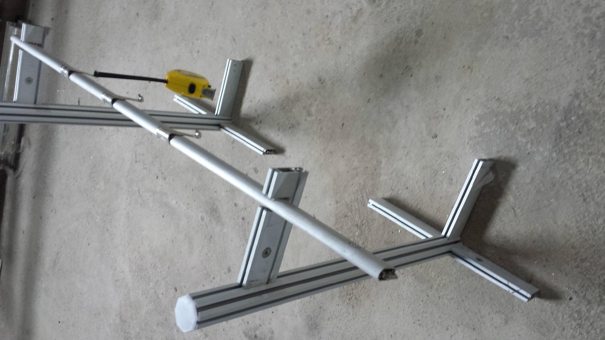 销售广西服装会挂衣杆专用凹槽扁铝 2