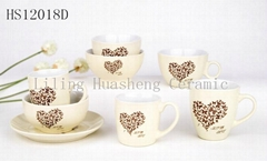 Ceramic tableware set valentine