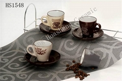 Ceramic saucer & cup