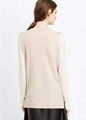 100% cashmere sweater Two-Tone Knit women cashmere sweater  3