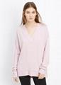 100% cashmere sweater fashion v neck