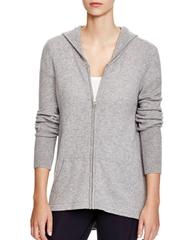 100% cashmere Zip-Front hoodies