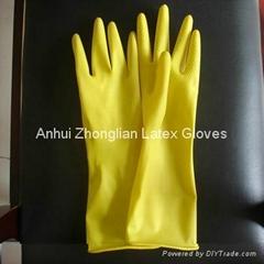 dipplined household latex gloves 30g