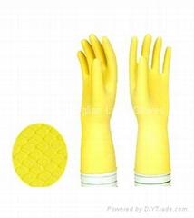 dipplined household latex gloves 50g
