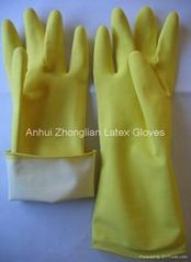 flocklined household latex gloves 40g