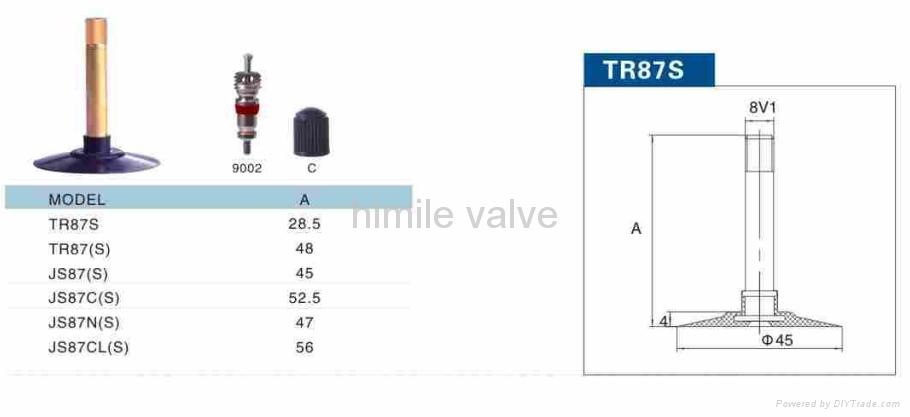 motorcycle valve TR87 1