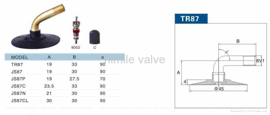 motorcycle valve TR87 2