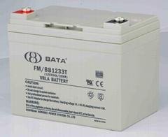 上海鴻貝高性能12V33AH鉛酸免維護蓄電池
