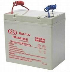 上海鴻貝太陽能電源專用12V55AH膠體蓄電池