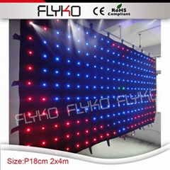 wedding stage backdrop fireproof soft led vision video curtain