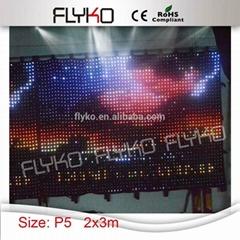 amazing flexible led curtain display xxx videos led video curtain