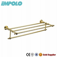 double towel racks with golden plated from Jiangmen 91615