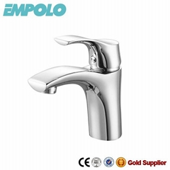 Chrome plated basin water faucet sanitary ware water saving mixer