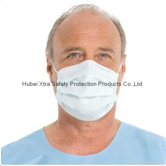 3ply Non Woven Earloop Disposable Face Mask-China-Manufacturer-Hubei Xtra Safety 1