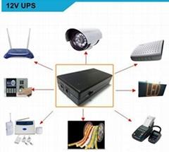 Security Camera  uninterruptible backup power 12V UPS