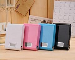 Dual usb LCD power bank 12000mah portable backup battery charger powerbank