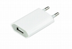 EU 5V 1A Mobile Phone Charger Wall USB Charger Adapter