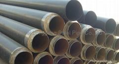 Polyurethane foam insulation steel pipe
