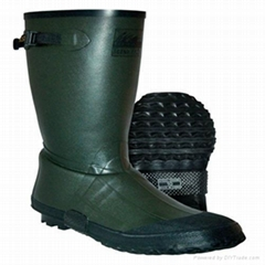 Green rubber boots fishing booting water proof