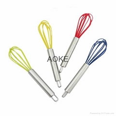 silicone Hand Mixer Coated Egg Whisk
