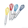 silicone Hand Mixer Coated Egg Whisk  4